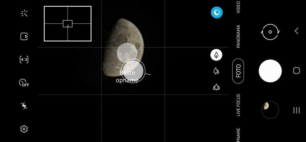 Modo luna para la cámara de algunos dispositivos de Samsung