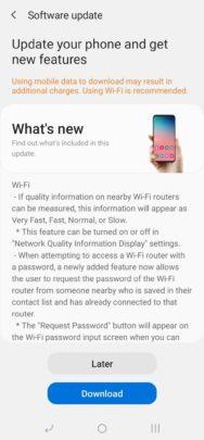 Samsung Galaxy A70 One UI 2.5 Update UK Changelog - 01