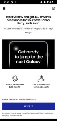 Samsung Galaxy S21 Pre-Order Reservations USA Samsung Shop App