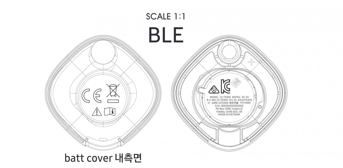 Samsung Galaxy Smart Tag Design Schematic
