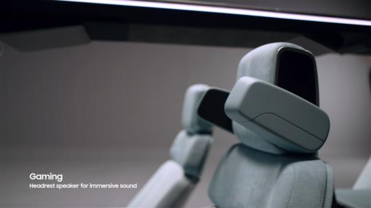 Samsung Digital Cockpit 2021 Gaming Mode Stereo Speakers Seats