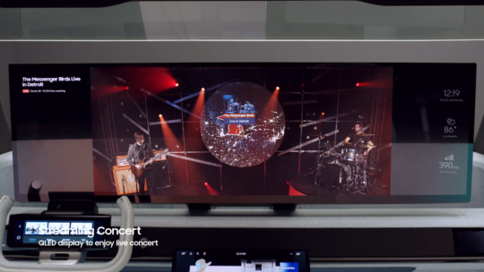 Samsung Digital Cockpit 2021 QLED Display
