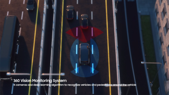 Samsung Digital Cockpit 2021 Vehicle Guidance System