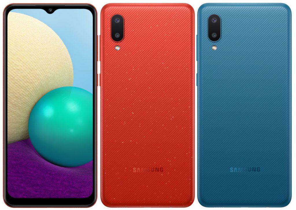 Samsung Galaxy A02 Blue Red