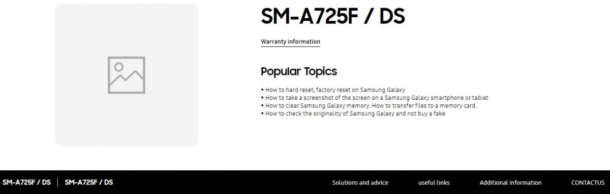 Samsung Galaxy A72 4G Support Page On Samsung Russia Website
