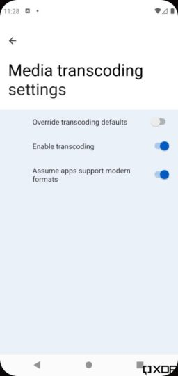 Android 12 One-Handed Mode Silky UI Media Transcoding Settings Settings