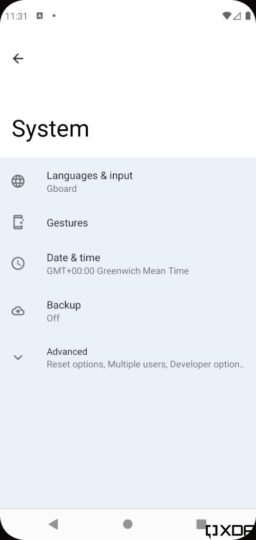 Android 12 One-Handed Mode Silky UI System Settings