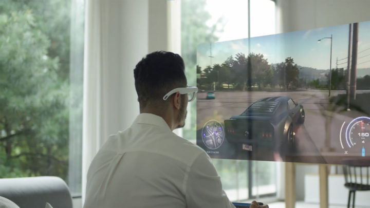Samsung AR Glasses Virtual Screen Gaming