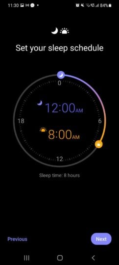 Samsung Clock App Sleep Schedule