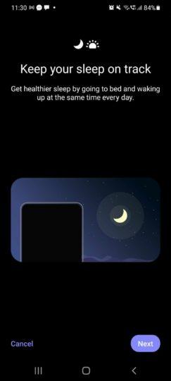 Samsung Clock App Sleep Tracking
