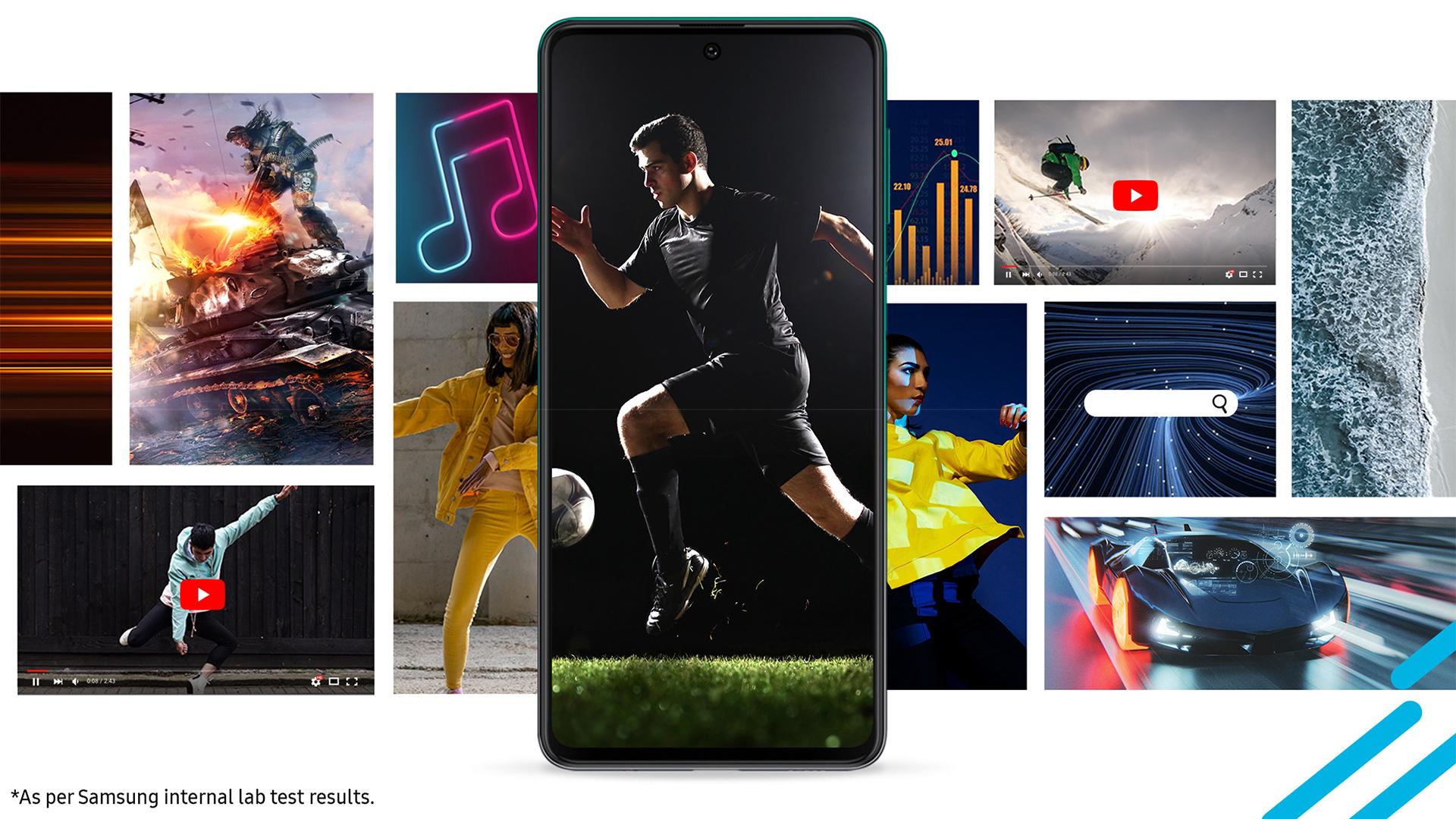 Samsung Galaxy F62 Screen