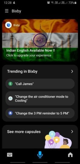 Bixby Home 3.0 Indian English