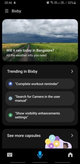 Bixby 3.0 Indian English Weather
