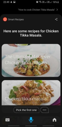 Bixby 3.0 Indian English Recipes