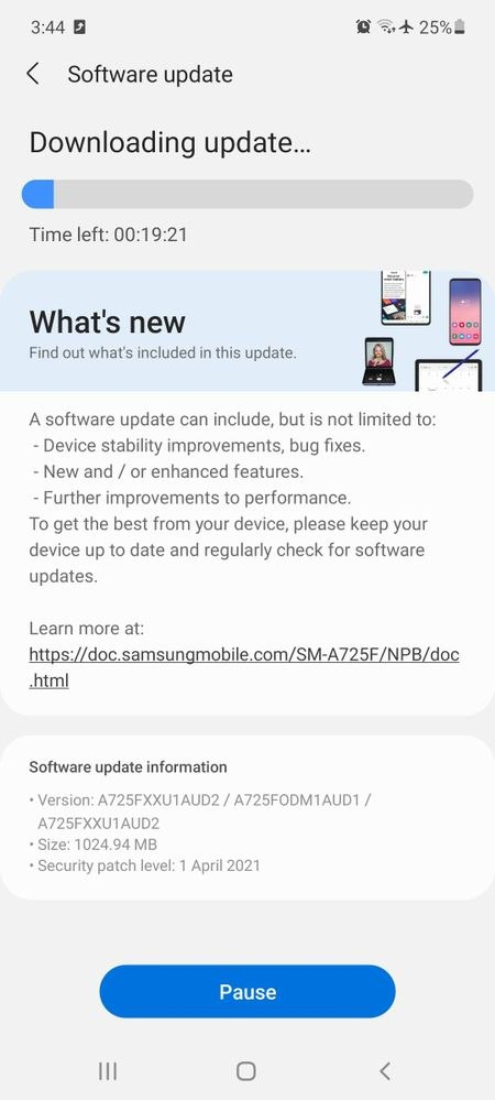 Samsung's rolling out a massive firmware update for the Galaxy A72