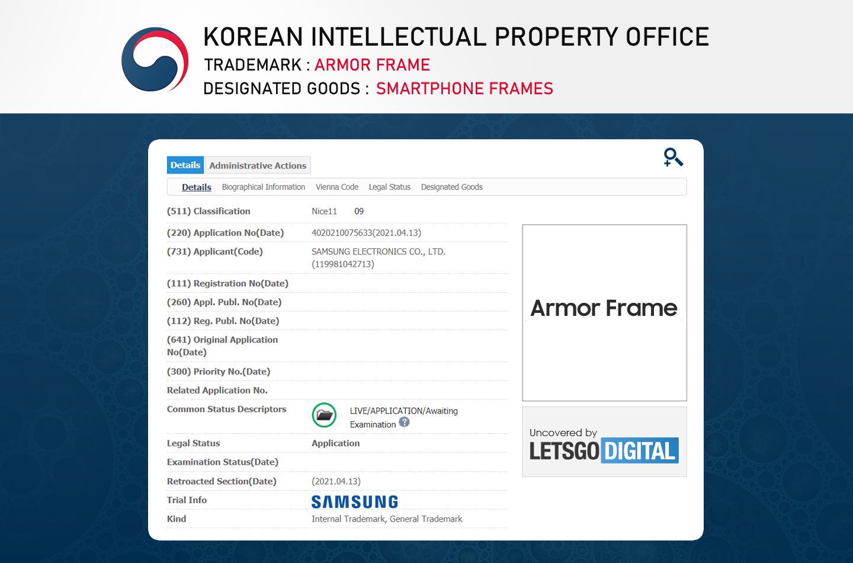 Samsung Armor Frame Patent
