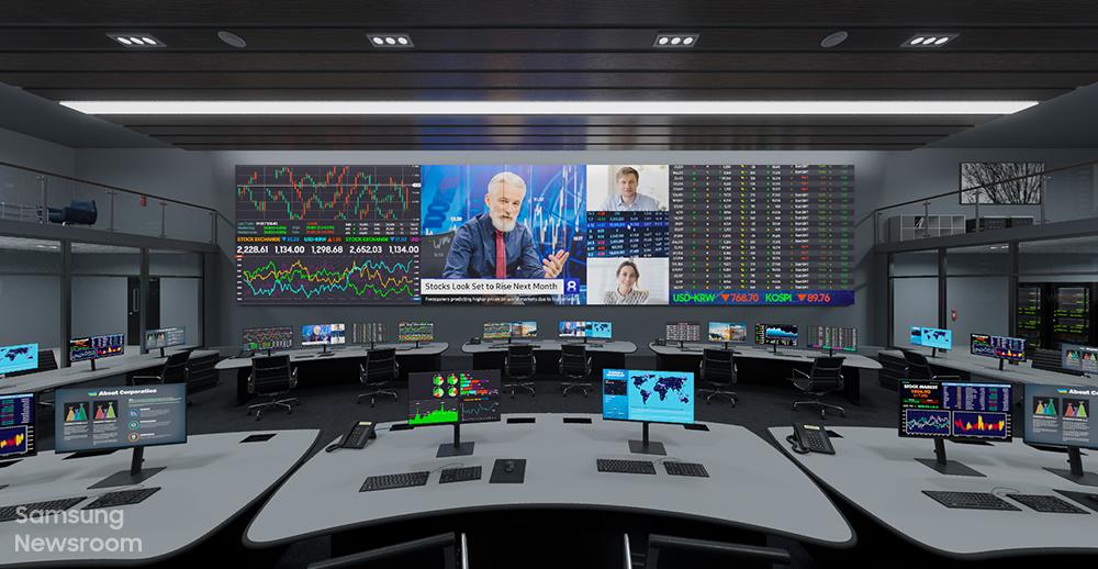 Samsung Display Future Control Room The Wall Monitors