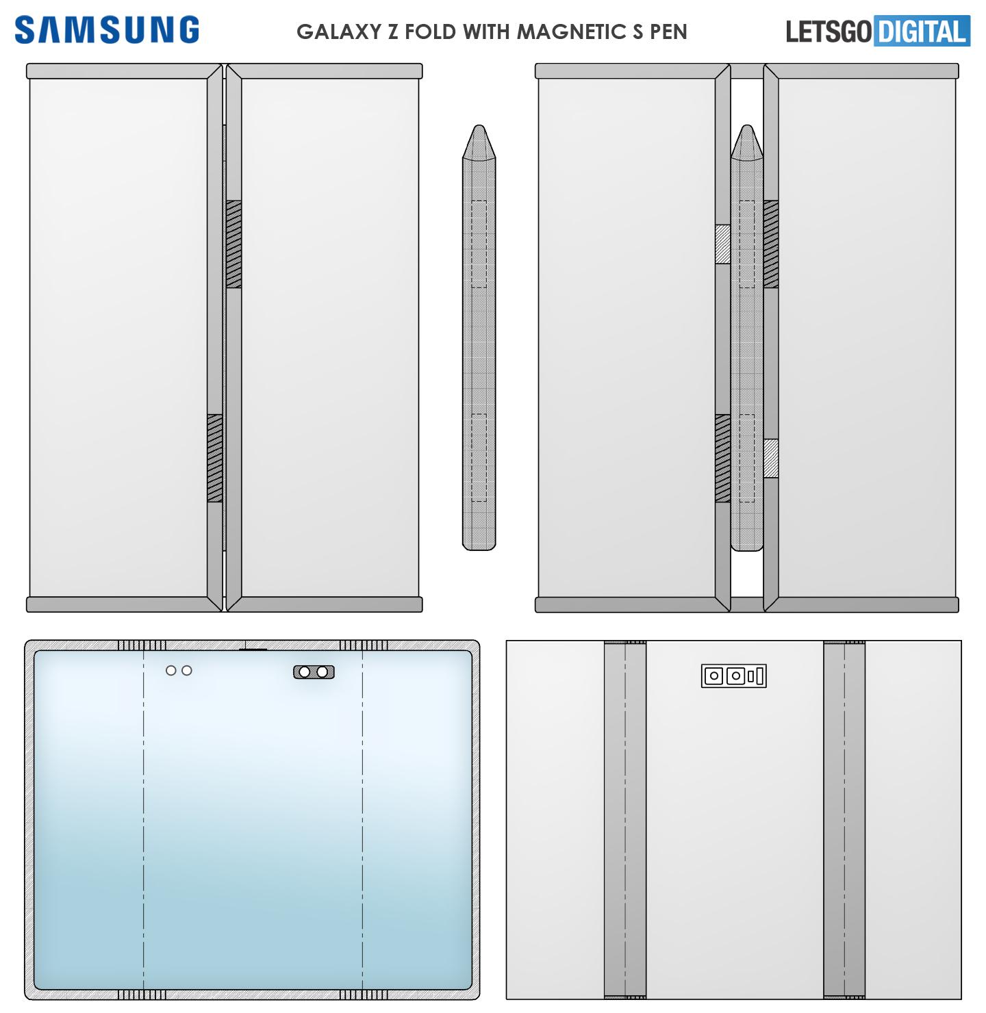 Samsung Galaxy Z Fold Tab Dual Foldable Patent Selfie Camera