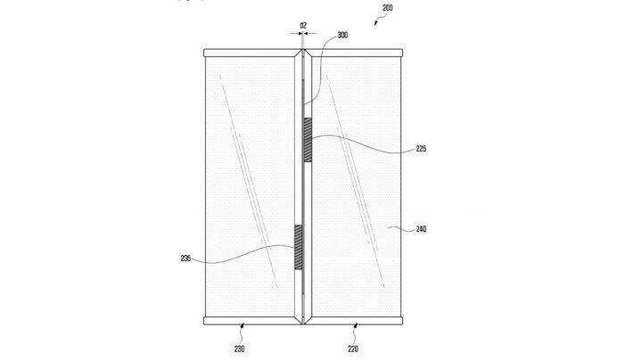 Samsung Galaxy Z Fold Tab Patent Outward Folded Displays Rear View