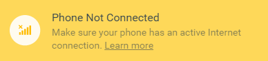 WhatsApp Phone Not Connected Issue