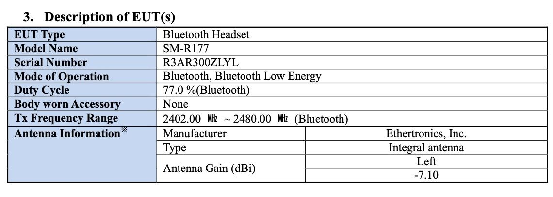 Samsung Galaxy Buds 2 Specs Model Number