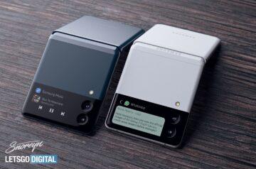 Samsung Galaxy Z Flip 3 White Green Concept Render