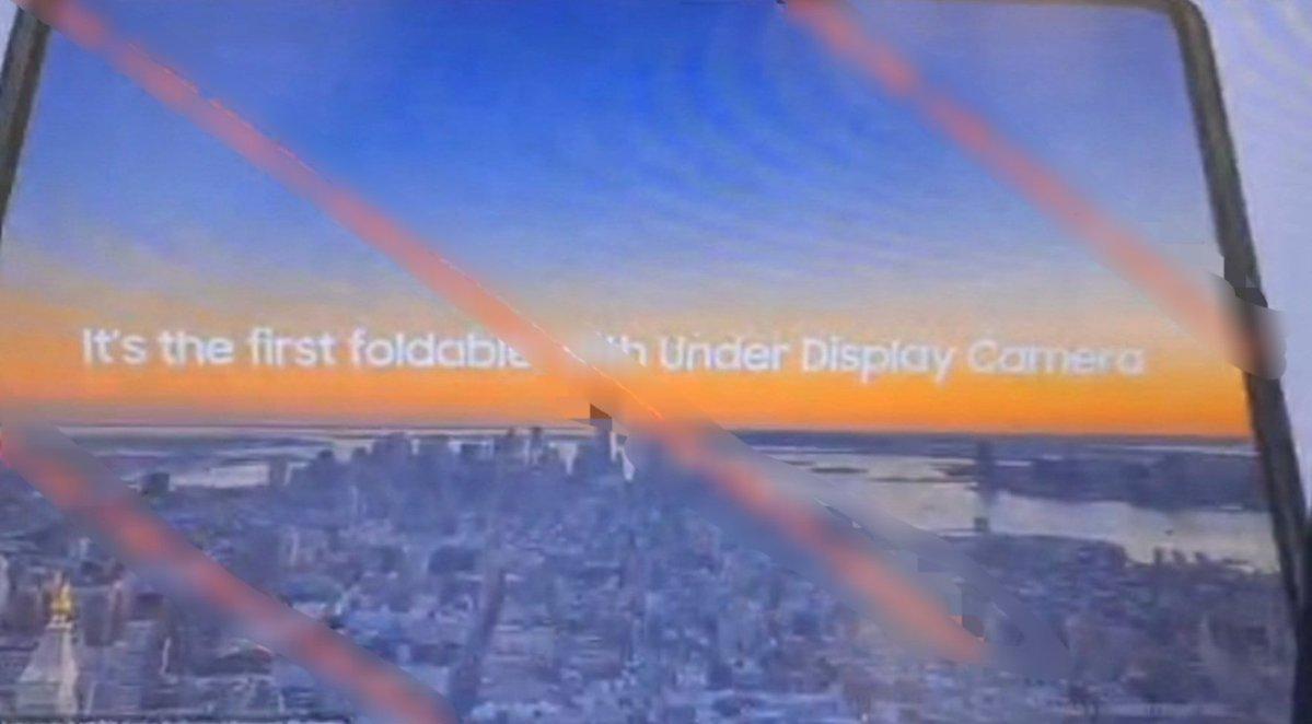 Galaxy Z Fold 3 membawa kamera di bawah layar