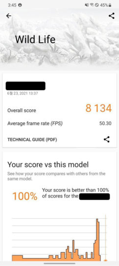 Samsung Exynos AMD GPU Performance 3DMark Wild Life Benchmark Score