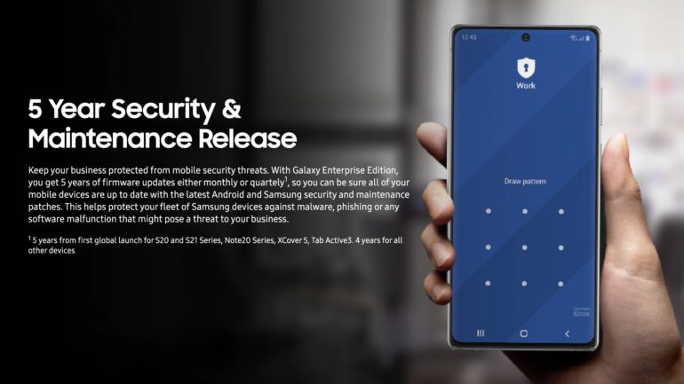 Samsung Galaxy Enterprise Smartphones Five Years Security Software Updates