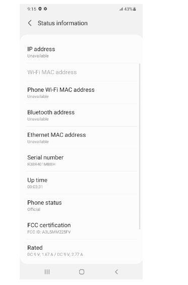 Samsung Galaxy M22 SM-M225F FCC Label 25W Fast Charging