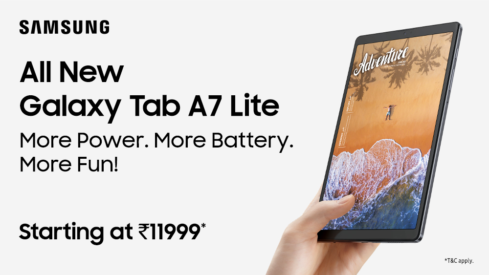 Samsung Galaxy Tab A7 Lite Price In India