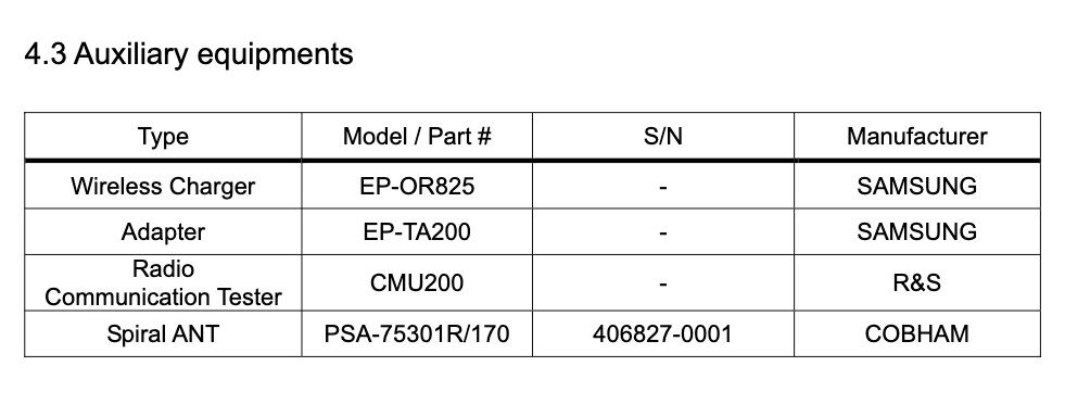 Samsung Galaxy Watch 4 SM-R885U FCC Certification Charger Adapter
