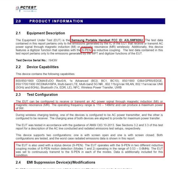 Samsung Galaxy Z Fold 3 S Pen Support 5G UWB FCC Certification