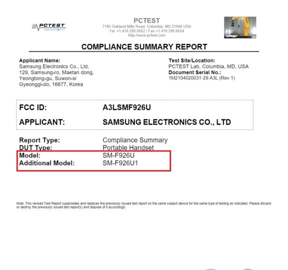 Samsung Galaxy Z Fold 3 US Variants FCC Certification