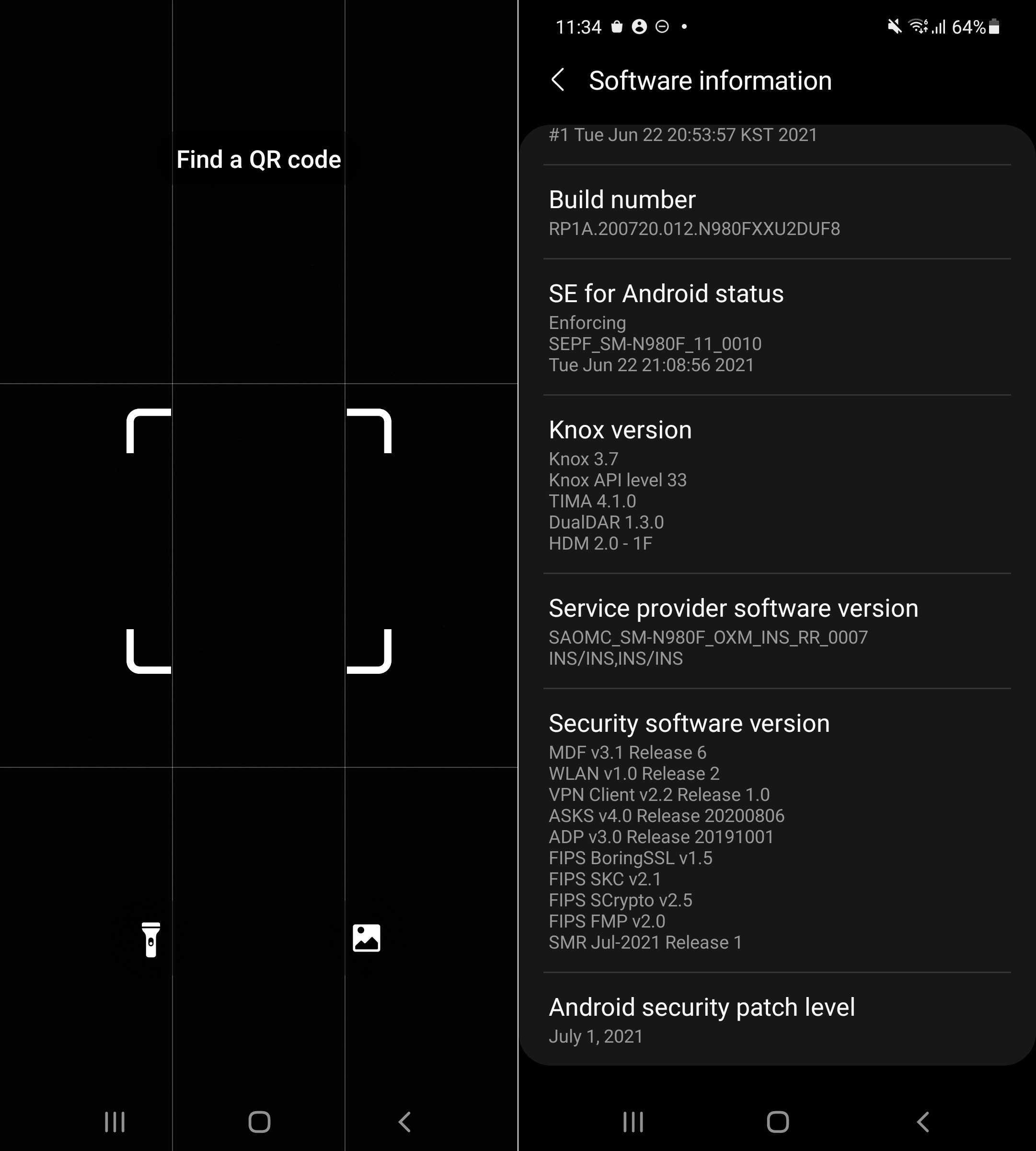 Galaxy Note 20 July 2021 update