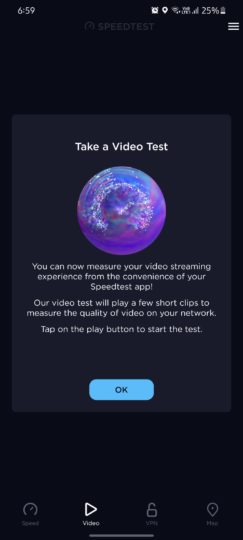 Speedtest Video Streaming Quality Test