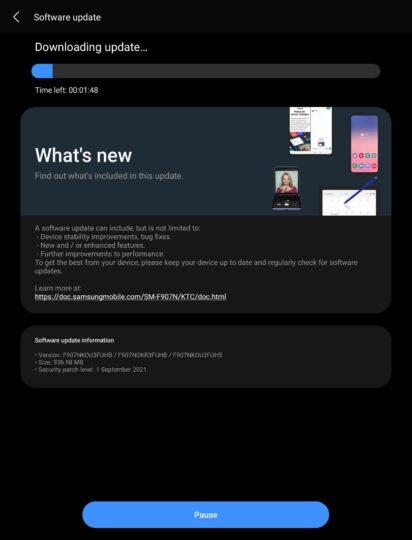 Galaxy Fold One UI 3.1.1